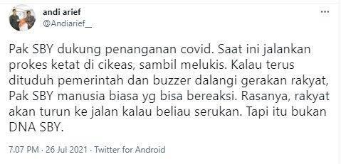 Merasa Terus Difitnah, Andi Arief: Rakyat Akan Turun ke Jalan Kalau SBY Serukan