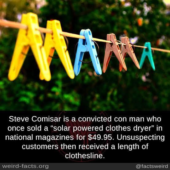 Penipu Koplak, Jual Alat 'solar-powered clothes dryer', Yang Dateng TALI JEMURAN !
