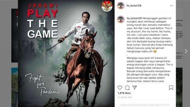 Selebgram Unggah Meme Jokowi Play The Game, Netizen: Udah Jadi Buzzer Juga Rupanya..
