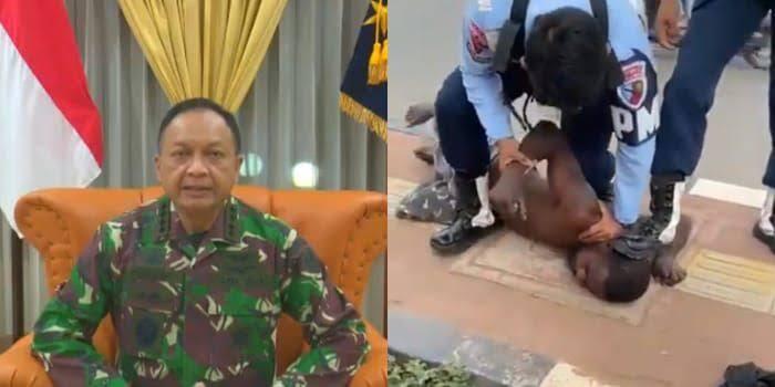 TNI AU, Minta Maaf Atas Ulah 2 Oknum Tentara Yang Injak Kepala Warga Di Papua!!