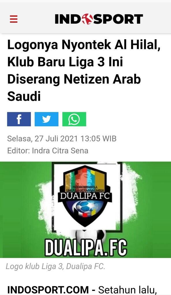 Logonya Nyontek Al Hilal, Klub Baru Liga 3 Ini Diserang Netizen Arab Saudi