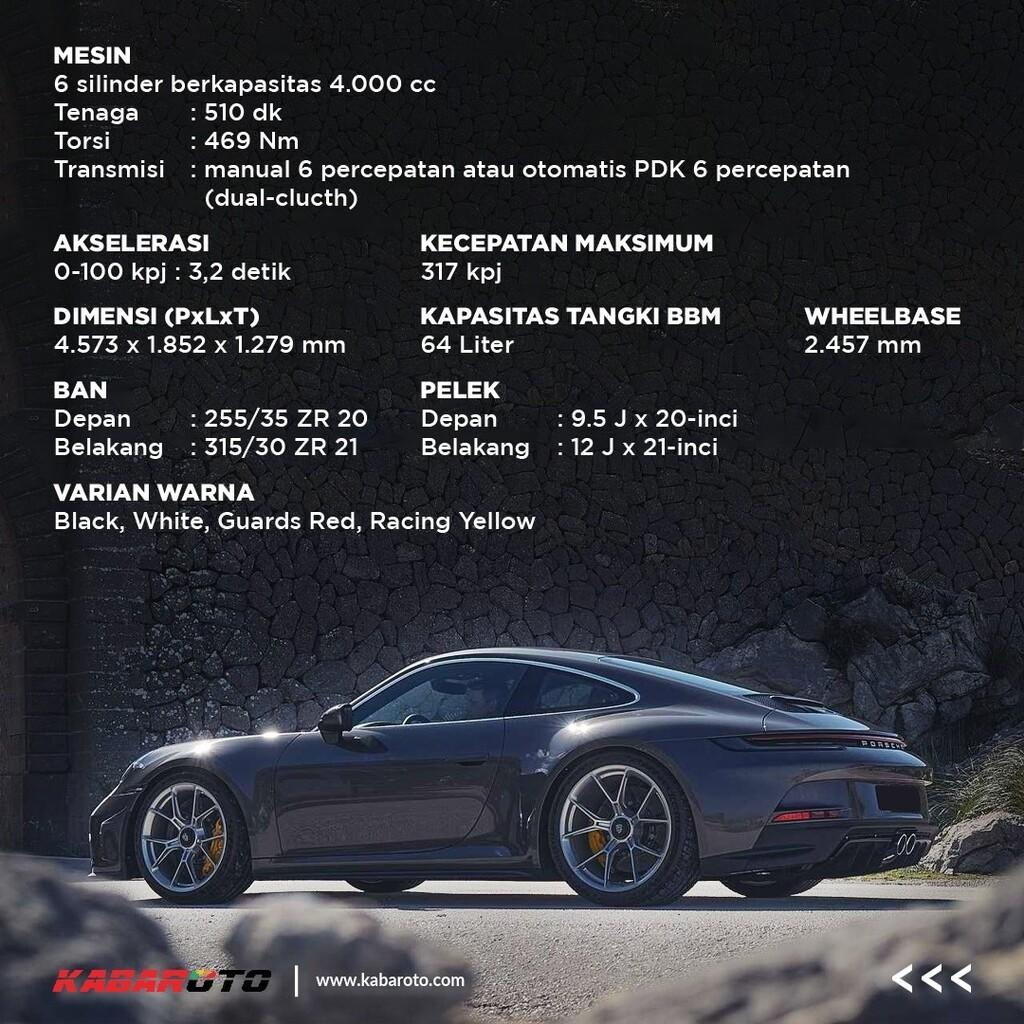 Porsche 911 GT3 Touring Meluncur, Tenaga Mencapai 510 Dk