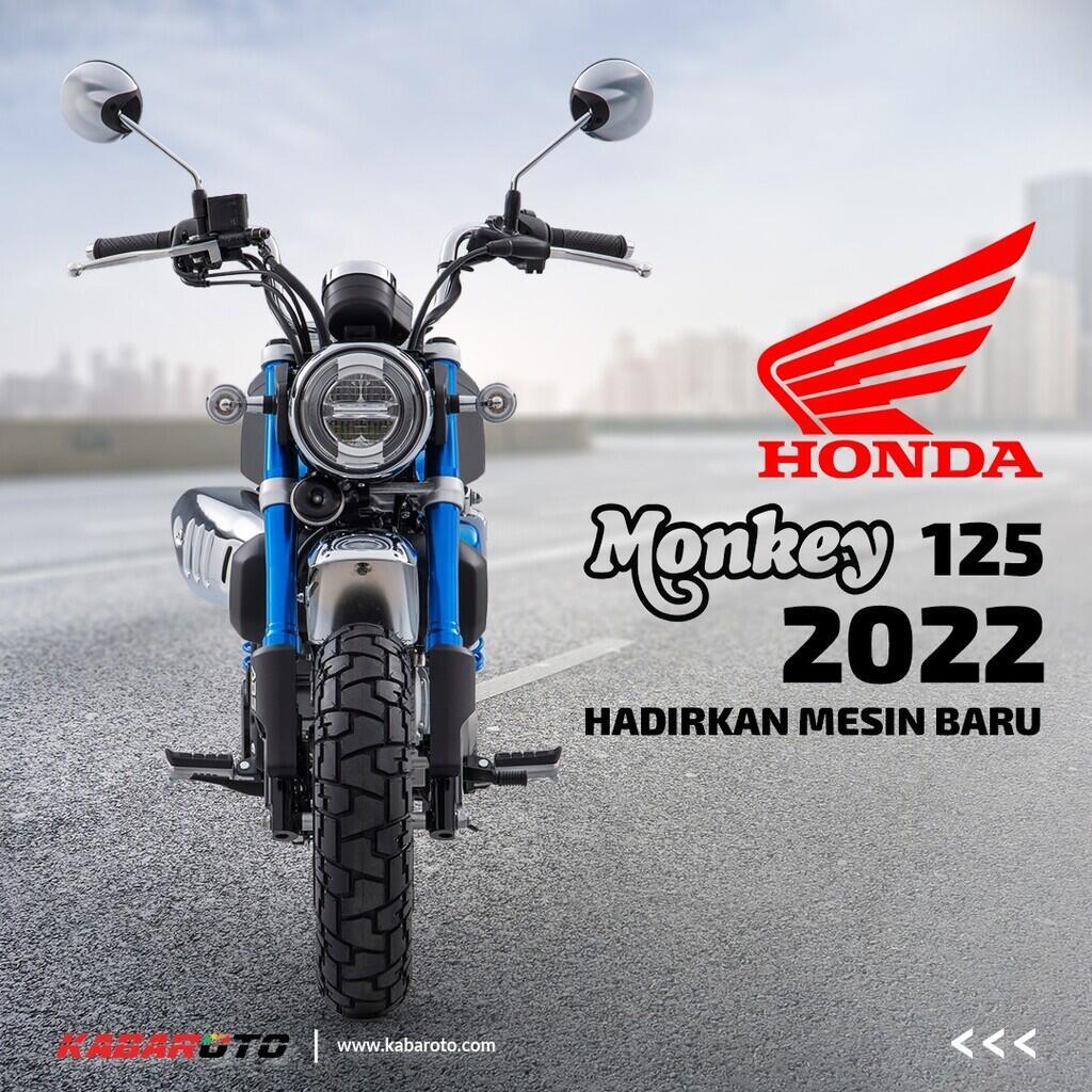 Honda Monkey 125 2022, Hadirkan Mesin Baru