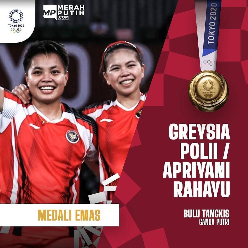Greysia / Apriyani Rebut Medali Emas, Jokowi: Kado HUT Kemerdekaan Indonesia