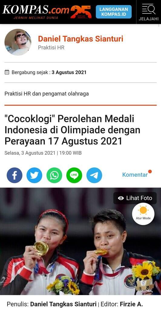 Cocoklogi Sempurna '17 Agustus 2021' dari Olimpiade Tokyo 2020 !!!