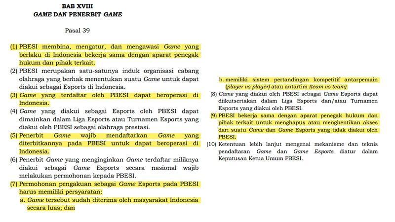 Kontroversi + Kurang Kerjaan, Peraturan PBESI Klaim Bisa Blokir Game Diluar Esports.