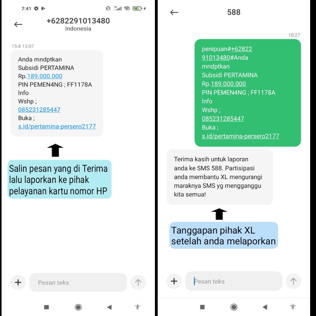 """Cara Blokir Nomor """"Spam dan Pesan SMS Penipu Yang Sedang Terjadi Di Dunia Internet"""