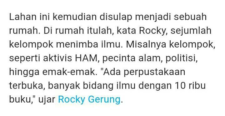 Rocky Gerung: Sentul City Biangnya Kriminal!