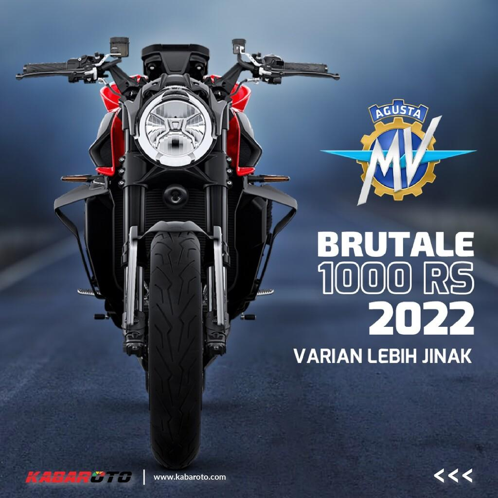 MV Agusta Brutale 1000 RS 2022, Varian Lebih Jinak