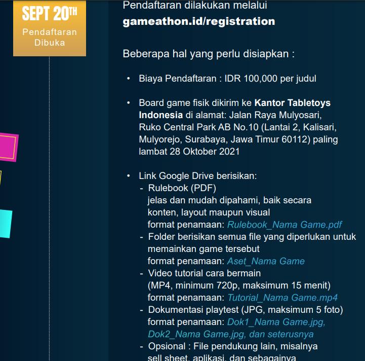 Gameathlon 2021 : Ajang Desain Boardgame Nasional Terbesar Tahun Ini