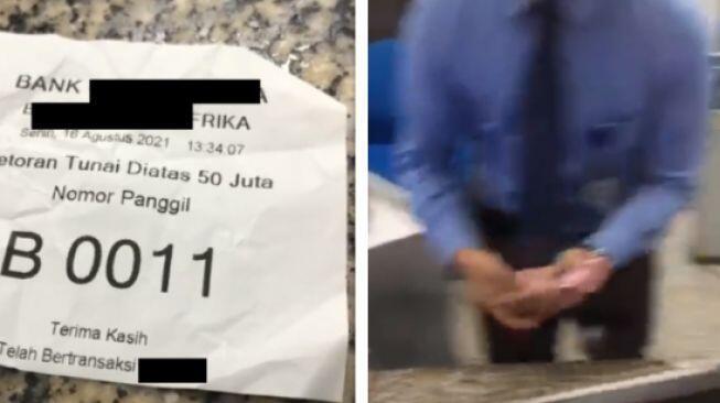 Pria Setor Tunai Sampai Bikin 5 Teller Kerepotan, Jumlah Uangnya Bikin Warganet Halu