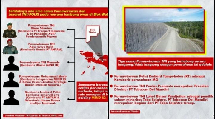 Ini Nama Purnawirawan TNI - Pejabat BIN di Perusahaan Tambang Blok Wabu