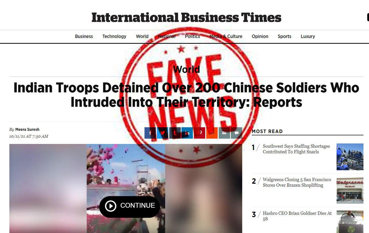 Disinformasi Pasukan India Menahan 200 PLA Tiongkok ternyata dari adegan Bollywood