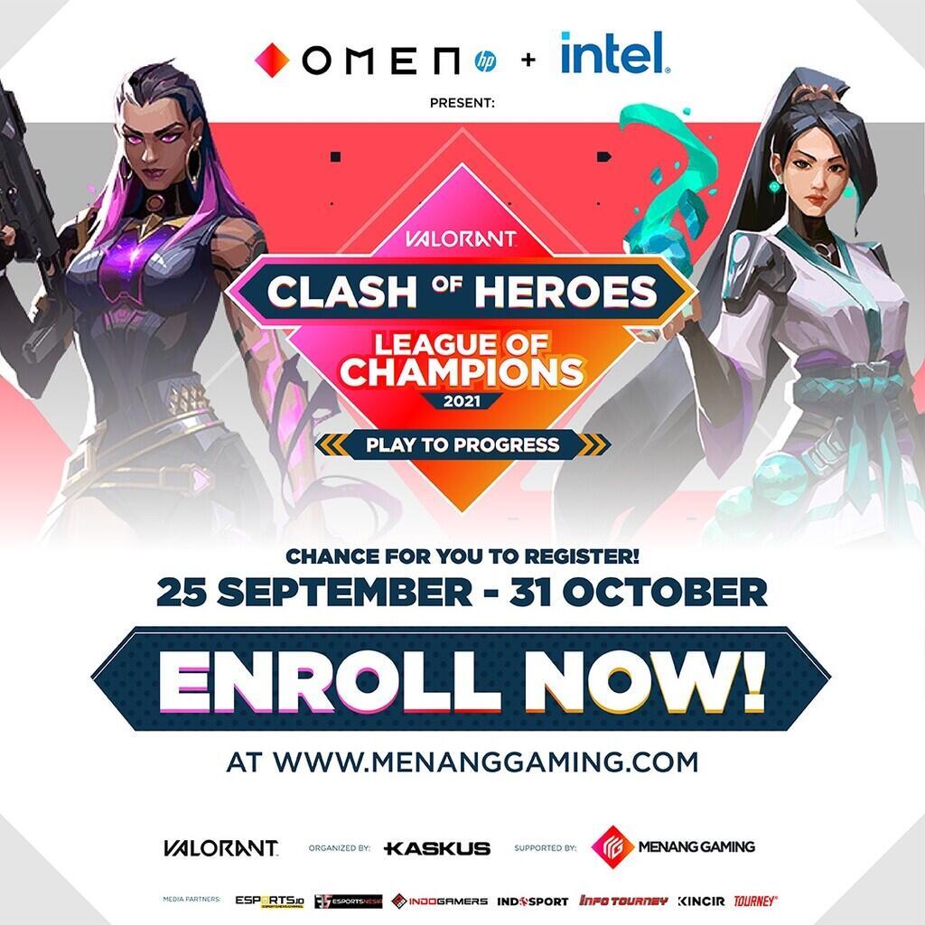 Raih Hadiah Total Puluhan Juta Rupiah dengan Daftar OMEN Clash of Heroes Sekarang!