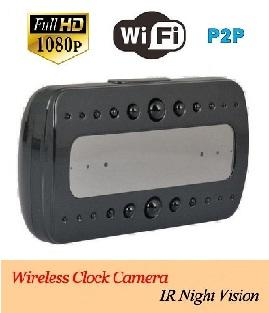 Desk-Clock Wifi Spy Camera(support iPad/iPhone & Android)