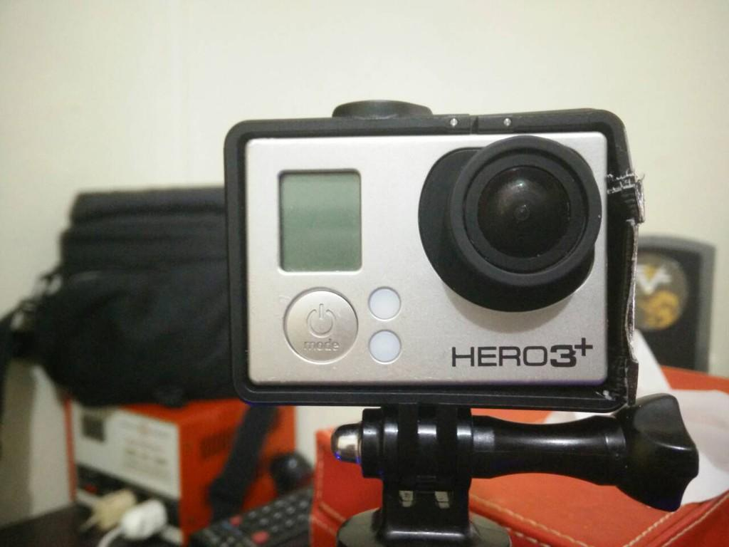 terjual gopro go pro 3 hero black fullset remote. Black Bedroom Furniture Sets. Home Design Ideas