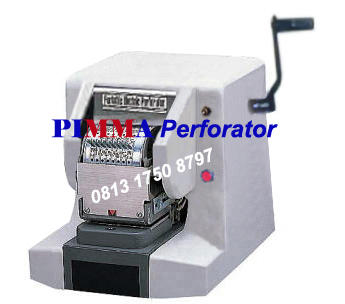 Mesin Perforator PIMMA TP 300 Electric Manual