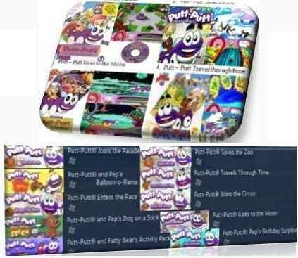 DVD All Putt - Putt Games (PC)-Special games for kids