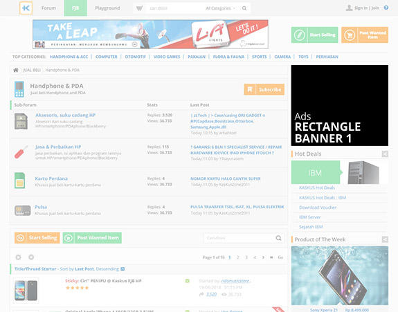 Rectangle Banner FJB (Thread List)