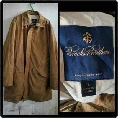Parka kulit suede brooks brother