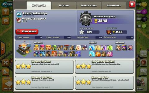 Jual Town Hall 11 level 151