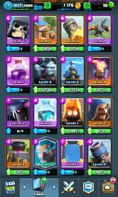 Clash Royale Level 7 2 Legendary Miner dan Ice Wizard