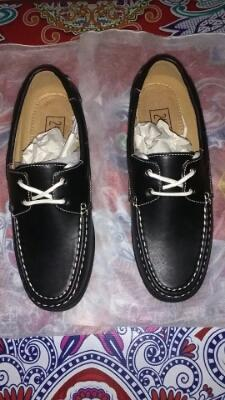 24:01 Faux Leather Boat Shoes