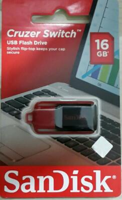 SanDisk Cruzer Switch CZ52 16GB / USB Flash Drive / USB Flash Disk NEW & ORIGINAL