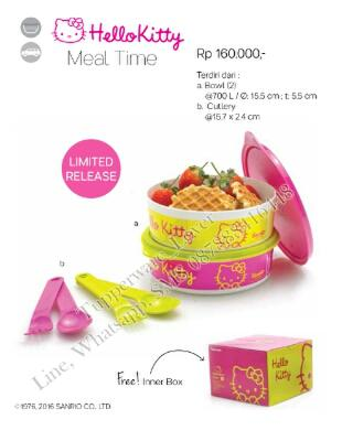 Hello kitty - Tupperware snack time set