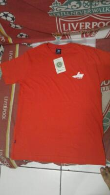 Kaos Baju T-Shirt Lea Clothing Co Red Original not nike levi's