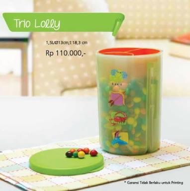 Tupperware Trio lolly
