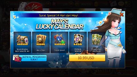 Jual Paket Mays Lucky Calendar Seven Knight Android Ios
