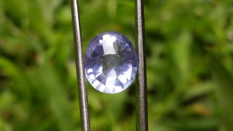 Natural HQ violetish Blue Sapphire Ceylon NH No Treatment RARE