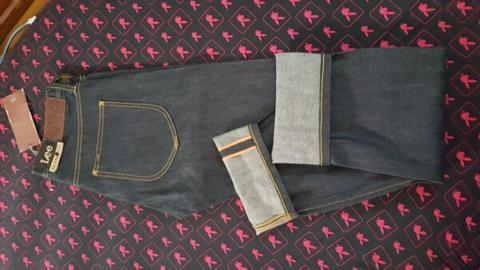 CELANA SELVEDGE LEE SLIM RIDER ORIGINAL BNWT MURAH