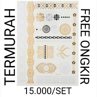 Supplier Temporary Tattoo Gold Silver