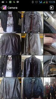 jaket kulit bomber A-2 schoot dark brown original