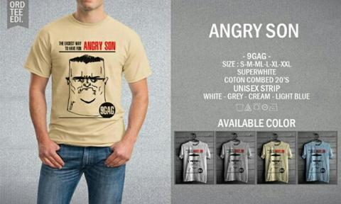 Kaos Distro T-Shirt Angry Son : 9GAG Series Clothing