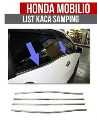 HONDA MOBILIO CHROME LIST KACA SAMPING WINDOW COVER