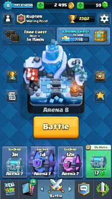 WTS ID Clash Royale, epic banyak, arena 7