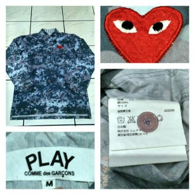 Play CDG Camouflage Battle Armour sz M
