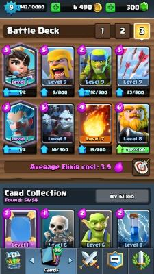 [WTS] Akun Clash Royale Level 8 Arena 8 + 2 Legendary Card
