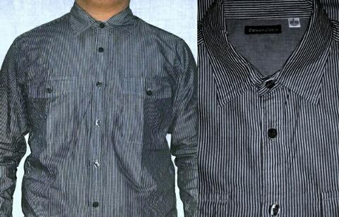 KEMEJA CASUAL / PREMIUM COTTON STRIPED SHIRT UNIQLO LIKE NEW