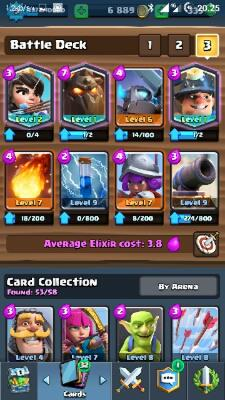 [WTS] Akun Clash Royale Level 9 Arena 8 + 3 Legendary Card