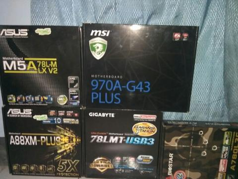 Mobo am3+ ,fm2+ with atlhon x4 880k bandung
