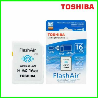 Toshiba 16GB FlashAir SD Card Wireless LAN SDHC Memory Card NEW and ORIGINAL