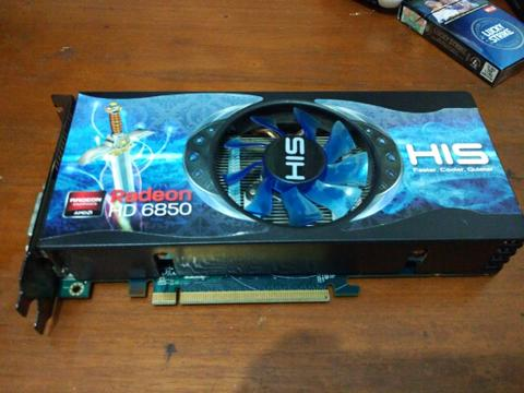 HiS 6850 1G ddr5 256 bit ( malang )