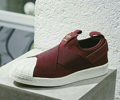 info for 09f1f e3fe4 clearance jual adidas superstar slip on maroon 691d5 3782f