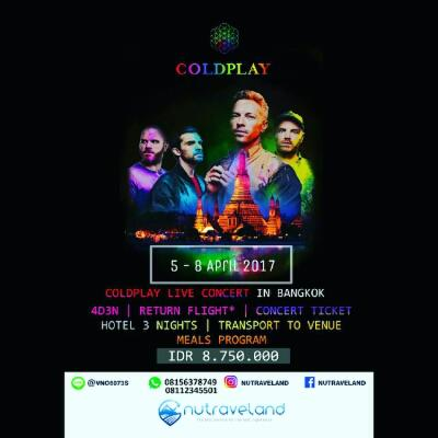 Open Trip Coldplay Goes To Bangkok