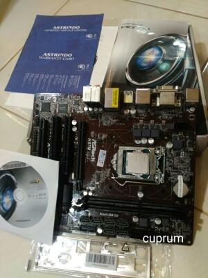 intel Haswel G3250 3,2ghz & mobo asrock bH87m dual pcie