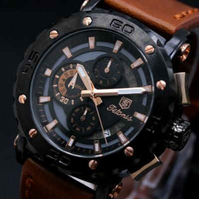 jam tangan titonis leather strap original